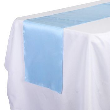 Satin Fabric Table Runner, 14-Inch x 108-Inch