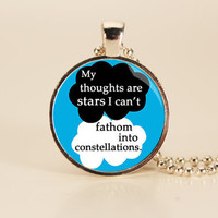John Green - The Fault in Our Stars - Book Quote Charm