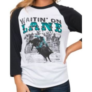 Crazy Train Women's Waitin' on Lane 3/4 Raglan Sleeve Tee