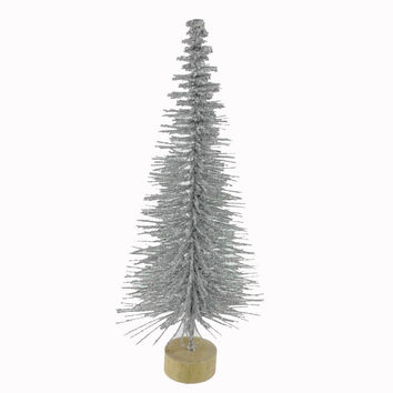 Christmas Silver Glitter Table Tree Christmas Decor