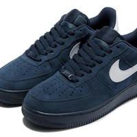 Nike Air Force 1 Blue White For Women Men Running Sport Casual Shoes Sneakers