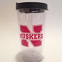 Car Window Decal - Vinyl Decals - Nebraska Huskers - Car Decal - Over 20 Colors Available - Nebraska Decal - Tumbler Decal - Football