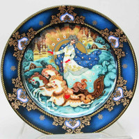 BRADEX Plate ~~Winter Majesty~~Russian folk ethnic magical porcelain collector's plate