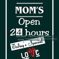 Christmas gift for mom, digital art, mum, mama gift, birthday gift, open 24 hours, typography word art, mom present, mom quote, mom wall art