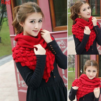 winter  scarf female pullover warm mohair knitted crochet scarf solid winter scarf = 1946291652