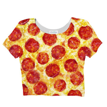 Pizza Sublimated Crop Top