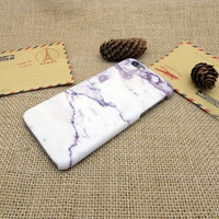 White marble purple pattern mobile phone case for iphone 5 5s SE 6 6s 6 plus 6s plus + Nice gift box 072601