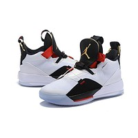 Air Jordan 33 XXXIII AJ33 Sneaker - Black/White/Red