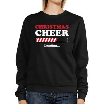 Christmas Cheer Loading Sweatshirt Winter Pullover Fleece Sweater
