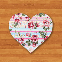 Pastel Aztec Flower Heart Mouse Pad Geometric Paint Desk Deco Rubber Sweet MousePad Christmas Gift Computer Pad Personalized Valentine Gift