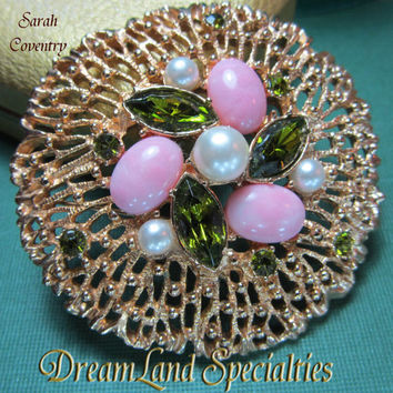 Sarah Coventry Book Piece Vintage Jewelry Brooch
