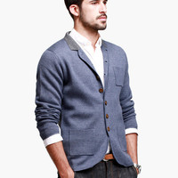 Blue Notch Sleeve Button Shirt