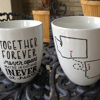 Long Distance Friendship or Romance Mugs