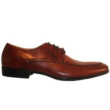 CREYONIG Florsheim Burbank - Brown Leather Moc Toe Oxford