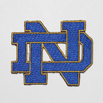 NOTRE DAME Fighting Irish Patch.... About 3 x 3 inches
