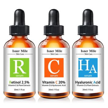 PURE RETINOL VITAMIN A 2.5%, HYALURONIC ACID - RETINOL WRINKLE CREAM / SERUM SET