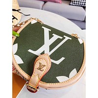 shosouvenir Louis Vuitton LV Women Fashion Leather Round Crossbody Shoulder Bag
