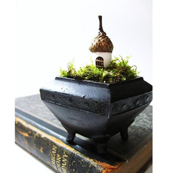 Woodland Home Miniature Acorn House by DoodleBirdie on Etsy