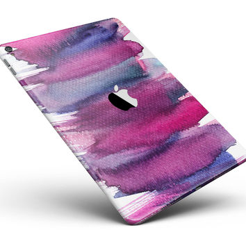 """Violet Mixed Watercolor Full Body Skin for the iPad Pro (12.9"""" or 9.7"""" available)"""