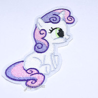 My Little Pony Sweetie Belle Iron On Embroidery Patch MTCoffinz
