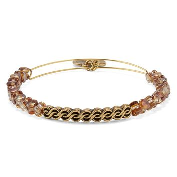 Copper Winding Road Beaded Bangle