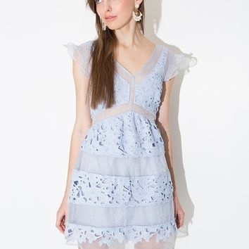 J.O.A Baby Blue Lace Dress