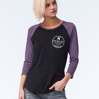 Hurley Tropic Scope Womens Raglan Tee Black  In Sizes