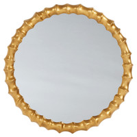 Mirrors, Round Knuckle Wall Mirror, Gold, Wall Mirrors