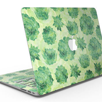 Green Floral Succulents - MacBook Air Skin Kit