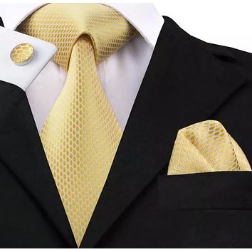 Men's Coordinated Tie Set - Yellow Gold
