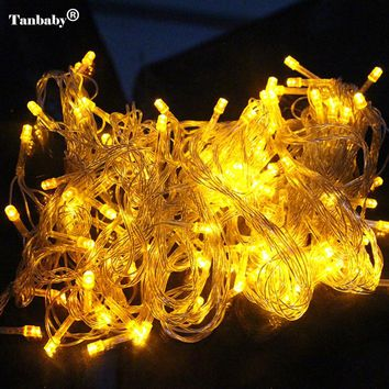 Tanbaby 10M 100 LED Home Outdoor Holiday Christmas Decorative Wedding xmas String Fairy Garlands Strip Party Lights