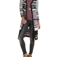Marled Striped Duster Cardigan by Charlotte Russe