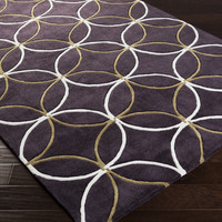 Cosmopolitan Area Rug | Purple Geometric Rugs Hand Tufted | Style COS9191