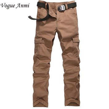 Vogue Anmi.2017 europe style mens pants washing overalls high quality men casual Cargo pants design trousers size 36 38 40,3107#