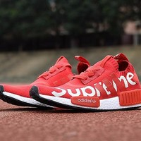 Best Online Sale Supreme Sup x Adidas NMD R1 Red Runner PK S79389 Boost Fashion Trending Sport Running Shoes Casual Shoes Sneakers