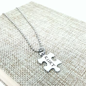 Puzzle Piece Necklace, Puzzle Jewelry , Puzzle Piece, Stainless Steel, Puzzle Necklace, Missing Piece