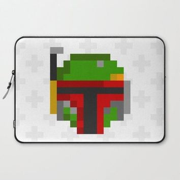 Cross Fett Laptop Sleeve Case Macbook Computer iPad PC Pop Art Fan Gift Unique For Tablet Fandom 8 bit Pixel Swedish Boba Modern Red Helmet