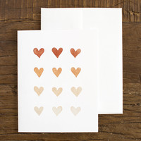 Ombre Hearts Greeting Card