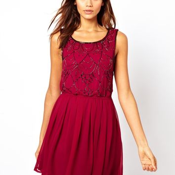 Lipsy Embellished Skater Dress