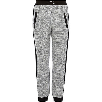 River Island Girls grey color block joggers