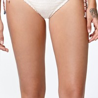 Kendall & Kylie Crochet Cheeky Bikini Bottom - Womens Swimwear - White