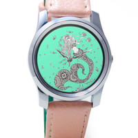 Mermaid Art Illustration Wrist Watch