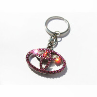 Pink Toyota BLING Toyota Keychain with crystals sleutelhanger Toyota emblem Toyota key ring Toyota key chain Toyota key ring Toyota keyring