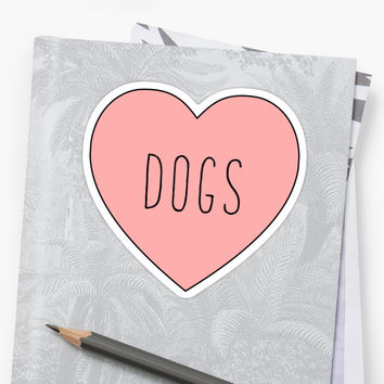 'I Love Dogs Heart | Dog ' Sticker by thepinecones