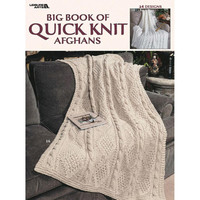 Leisure Arts The Big Book of Knit Afghans Knitting Pattern Booklet