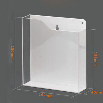 A5 wall-amount literature holder Acrylic File brochure leaflet holder collection wall frame rack