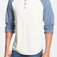 Men's Lucky Brand Colorblock Baseball Henley, Size XX-Large - Grey