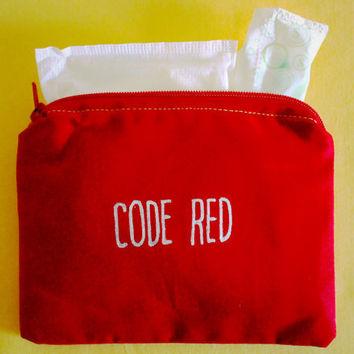 INdiscreet  Zip Pouch for Tampons, Menstrual Pads, Feminine Products - Code Red