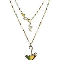 Gold Plated Winnie The Pooh Umbrella Pendant Necklace From Disney Couture : TruffleShuffle.com
