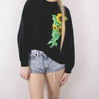 Vintage Sunflower Floral Sweatshirt